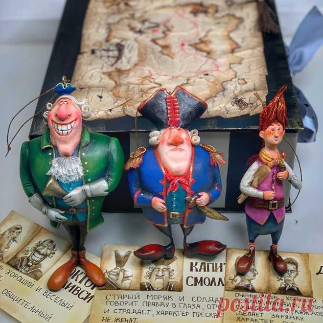 Набор ёлочных игрушек пираты « остров сокровищ» – купить на Ярмарке Мастеров – N8AK8RU   Интерьерная кукла, Казань