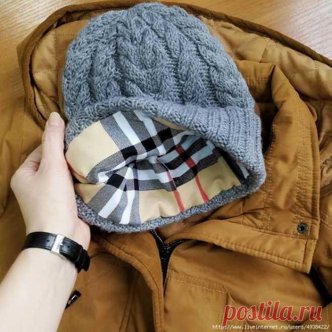 как рассчитать подклад для вязаной шапки вязание шапки шарфы