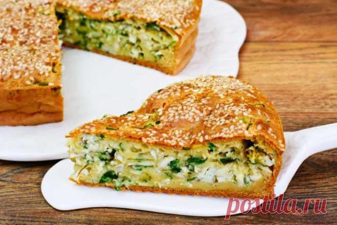 Как приготовить заливной пирог «Весенний» 🚩 Кулинарные рецепты