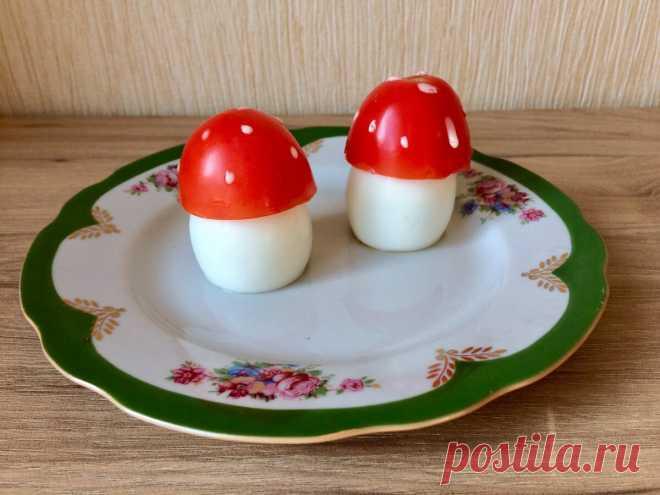Готовим с детьми: мухоморчики из яиц и помидоров | Moonfish kids | Яндекс Дзен