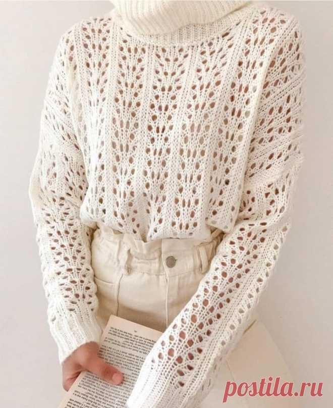 Красивый узор спицами. Ещё больше схем и интересных моделей на сайте красивое-вязание.рф