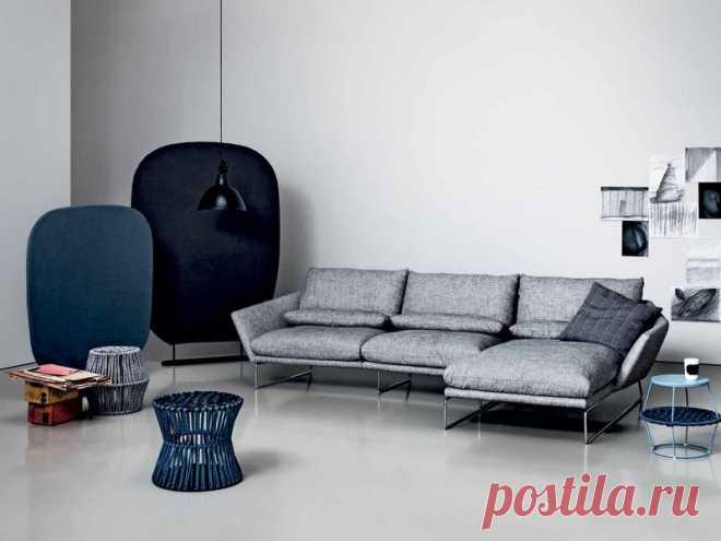 Классический серый диван для дома | Роскошь и уют