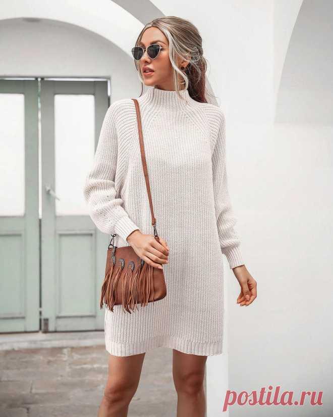 Осенне зимний новый свитер в стиле Ins от nian, модель 2020 года, платье свитер средней длины с воротником Регланом|Водолазки| Детские жаккарды | реглан спицами | готовые выкройки |