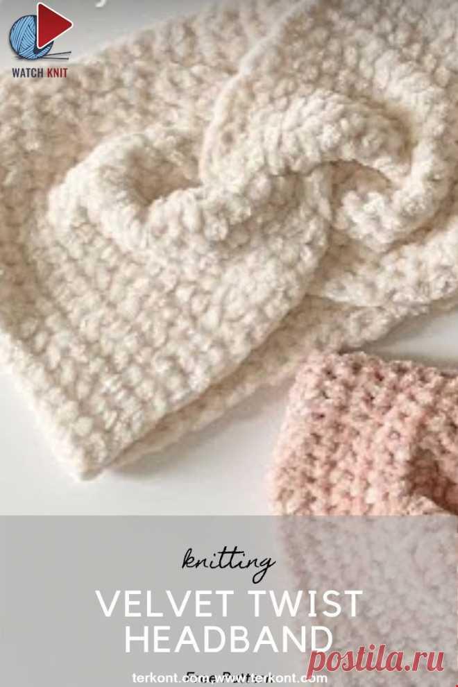 Easy Crochet Velvet Twist Headband