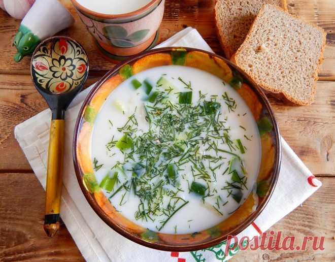 Классическая окрошка на кефире с колбасой рецепт с фото пошагово - 1000.menu