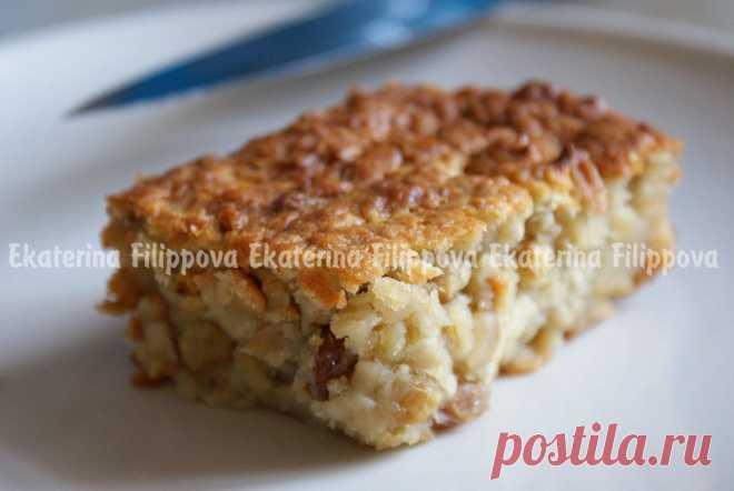 Пирог из корня сельдерея с кедровыми орешками.