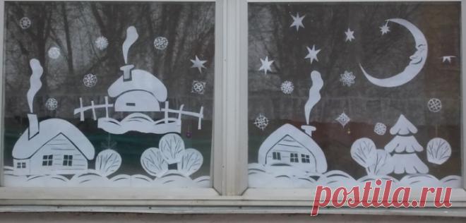 Украшения на окна к новому 2018 году: как сделать оригинальный новогодний декор своими руками из подручных материалов?. Как необычно и легко украсить окна к новому году 2018: лучшие идеи снежинок, наклеек и гирлянд, декор на окнах зубной пастой, трафареты и вытыканки для украшения окон к новому году и другие идеи для творчества с фото, видео и шаблонами украшений на окна