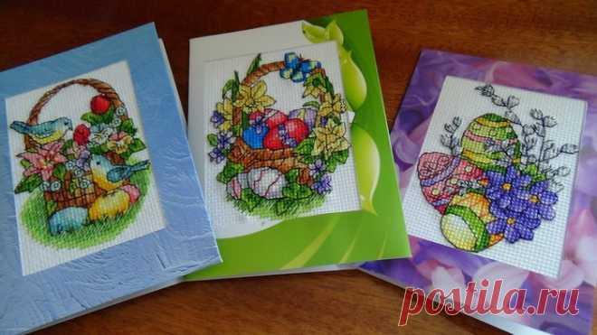 Вышивка идеи для открытки