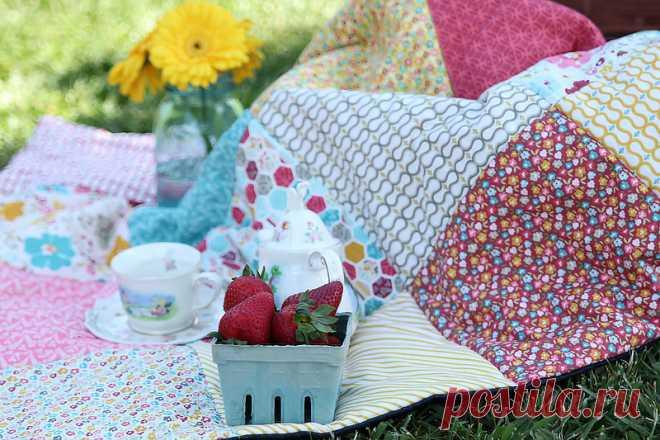 Как сшить лоскутное одеяло своими руками — Мастер-классы на BurdaStyle.ru