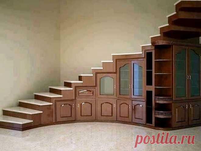Крутые лестницы - шкафы (подборка) Модная одежда и дизайн интерьера своими руками