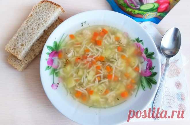 Быстрый куриный суп с вермишелью рецепт с фото пошагово