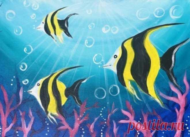 Рисуем рыбок — Поделки с детьми