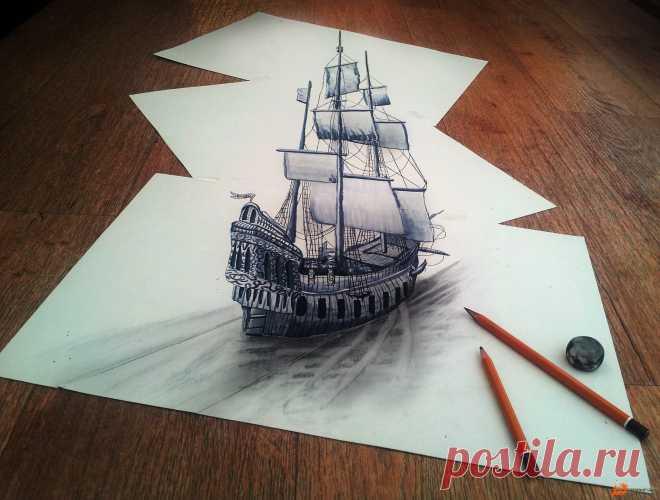 Авторские рисунки карандашом и портреты девушек