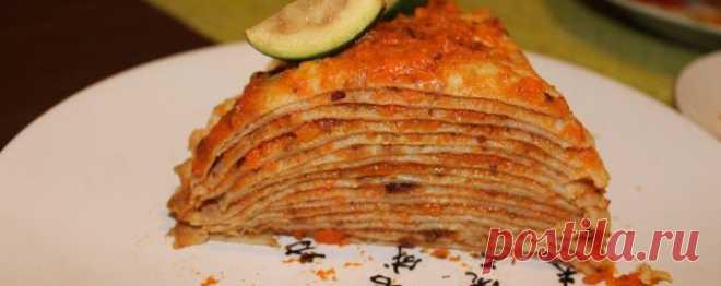 Торт из блинов - Диетический рецепт ПП с фото и видео - Калорийность БЖУ