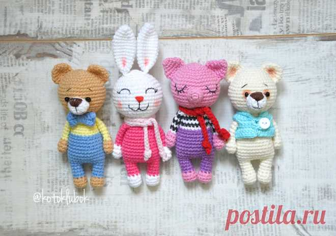 PDF Мини Зверюшки. FREE amigurumi crochet pattern. Бесплатный мастер-класс, схема и описание для вязания игрушки амигуруми крючком, своими руками! Свинка, pig, мишка, медведь, bear, заяц, зайка, зайчик, bunny, животные, зверюшки, animals. #амигуруми #amigurumi #amigurumidoll #amigurumipattern #freepattern #freecrochetpatterns #crochetpattern #crochetdoll #crochettutorial #patternsforcrochet #вязание #вязаниекрючком #handmadedoll #рукоделие #ручнаяработа #pattern #tutorial #häkeln #amigurumis