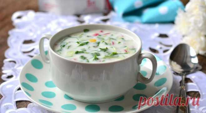 Okroshka on kefir with a sorrel, the step-by-step recipe with a photo