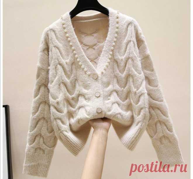 Выбор модниц на весну-вязаные стильные свитеры,кофты и топы с рукавами | * Мечтательница* | Яндекс Дзен