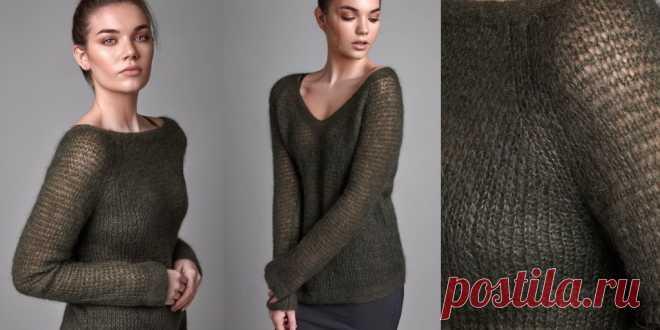 пуловер из мохера Transparent пуловер из мохера спицами с описанием