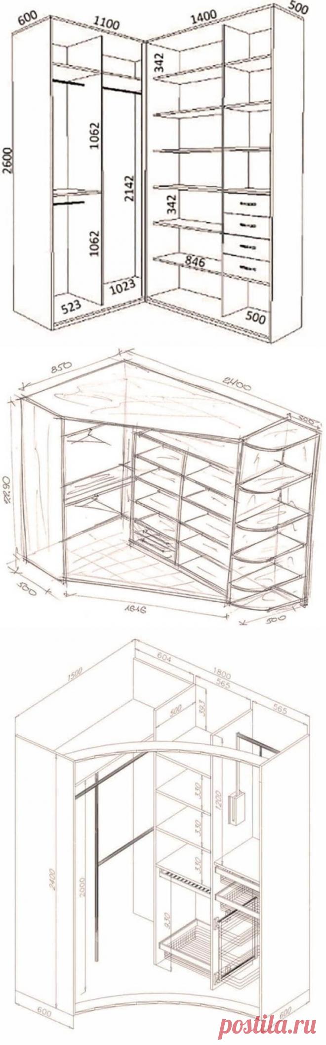 Фантастические шкафы-купе: 26 идей с чертежами | Тысяча и одна идея
