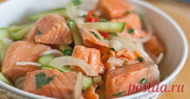 Салат из рыбы по-корейски: съедается в один присест. ну очень удачный маринад.
