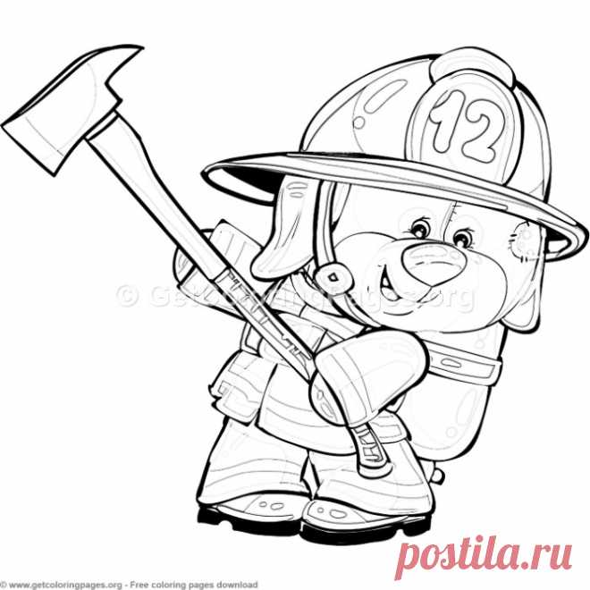 9 Teddy Bear Firefighter Coloring Pages – GetColoringPages.org