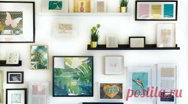 Без дыр и гвоздей: 8 надёжных способов повесить картину на стену | ИДЕИ ВАШЕГО ДОМА | Яндекс Дзен