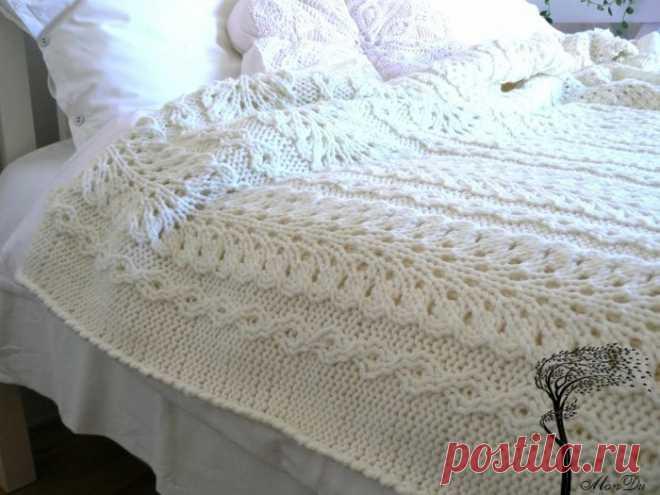 шикарное покрывало спицами схемы вязания вязание спицами постила