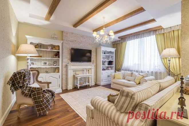 Квартира с интерьером в стиле прованс Дизайнер создала в московской квартире площадью 75 кв. метров интерьер в стиле прованс с легкими нотками шале.Созданный интерьер — это некая смесь английской классики и французского прованса вместе с...