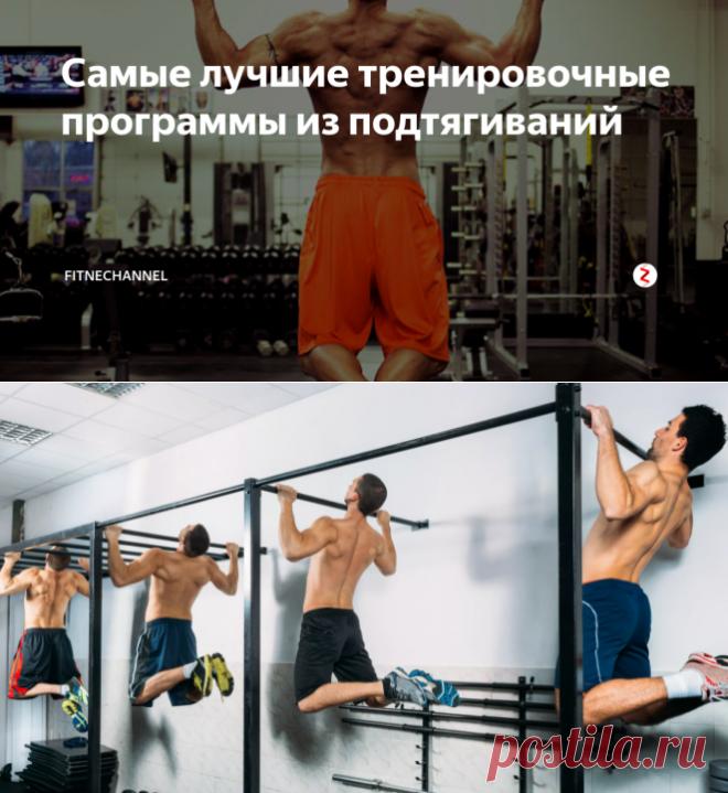 Самые лучшие тренировочные программы из подтягиваний   fitnechannel   Яндекс Дзен
