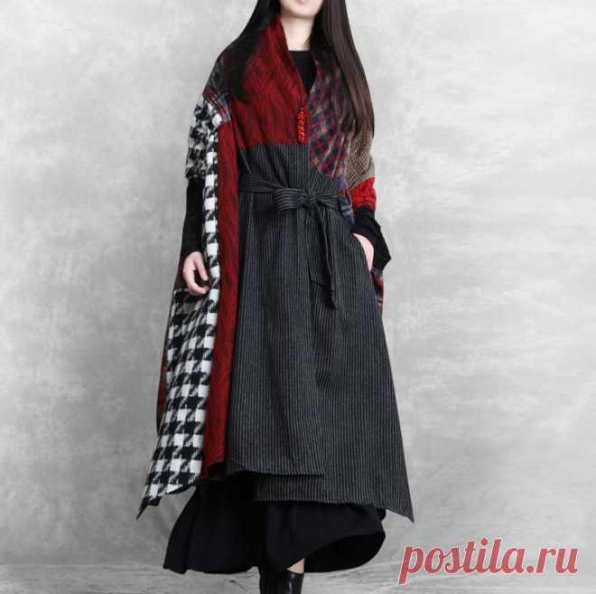 Winter asymmetrical wool coat womens Wool coat Oversized | Etsy
