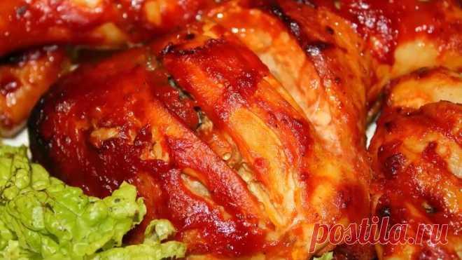 Курица в томатном соусе, запеченная в духовке! НЕРЕАЛЬНО ВКУСНО!