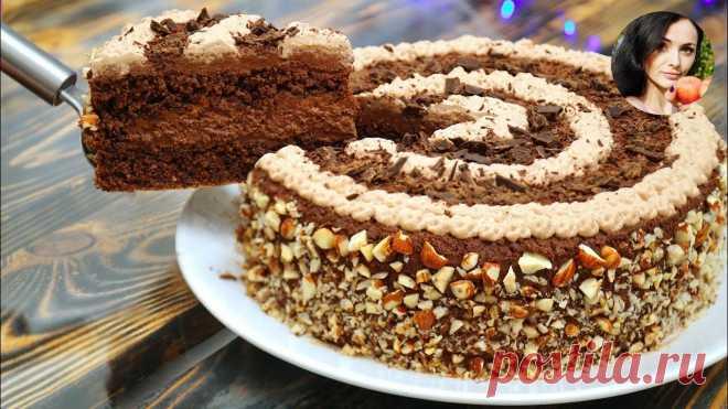 Без муки! Шоколадный ореховый торт: сочный и воздушный Такой десерт вам обязательно понравится. Получается лакомство сочным, воздушным и очень- очень нежным. Для приготовления вам потребуются такие ингредиенты: — крахмал любой, 20 г; — сахар, 150 г;...