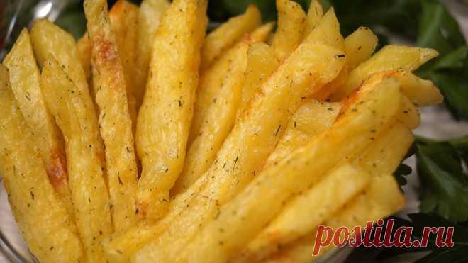 Вкуснятина за 5 минут из картофеля и никакой возни!  Картофель фри в микроволновке. Получается ничуть не хуже, жареного во фритюре, не слишком зажаренный, но такой же хрустящей и вкусный, и в такой картошки очень малое количество жира. ИНГРЕДИЕНТЫ Карт…