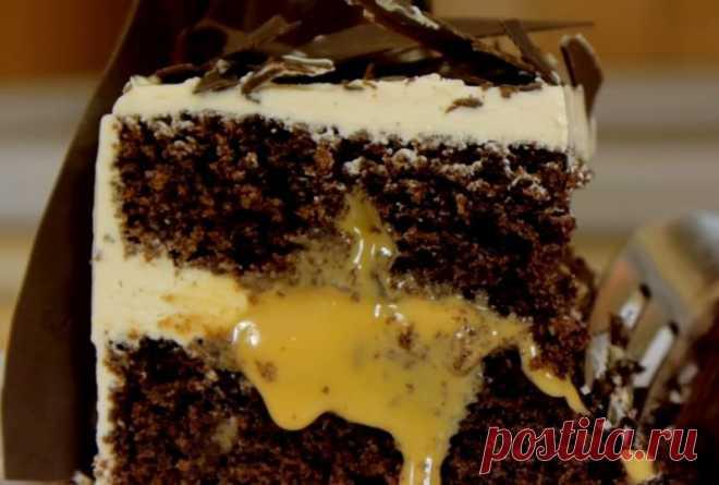 Божественный шоколадно-карамельный торт