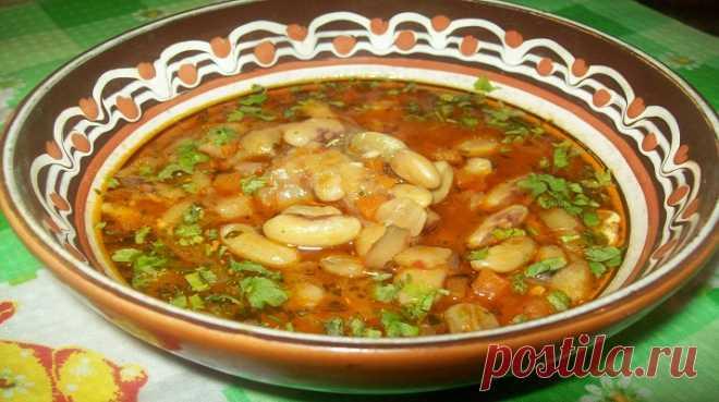 Красный фасолевый суп боб-чорба - Очень вкусно