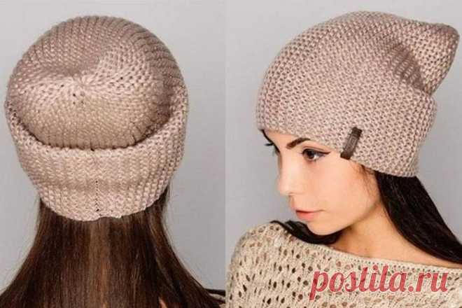 Азбука рукодельницы: шапка бини платочной вязкой - kolobok.ua