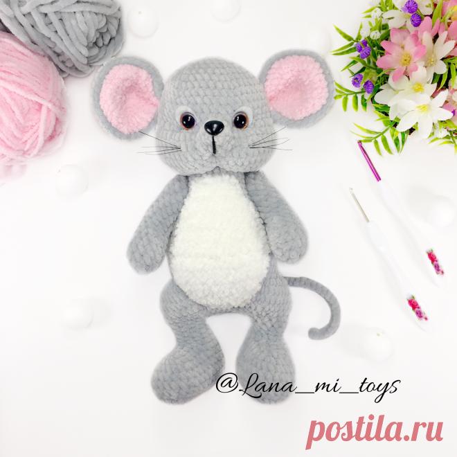 """Мастер-класс """"Мышонок"""" от LanaMi toys, схема вязания крючком pdf, мышонок вязаный крючком, мышка схема вязания, Амигуруми схема"""