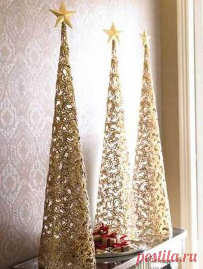 Эко-елочки как праздничный декор: фотоподборка оригинальных декоративных решений - Ярмарка Мастеров - ручная работа, handmade