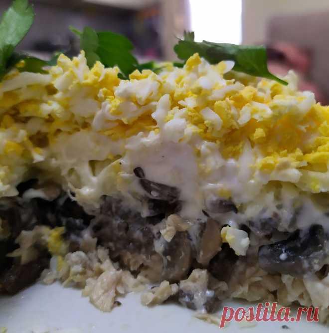 Лучший грибной салат на Новый год - его съедают в первую очередь | Вкусно и полезно | Яндекс Дзен