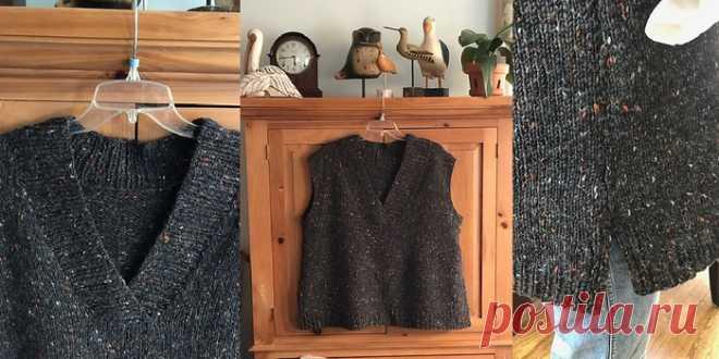 Жилет спицами Joans Vest