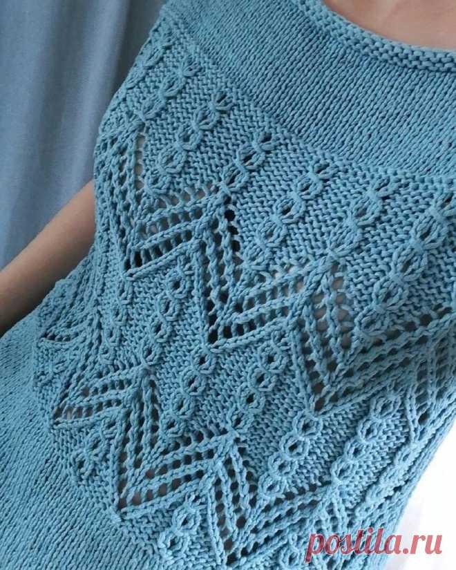 Очень красивый узор для пуловера