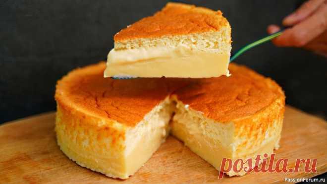 ВОЛШЕБНЫЙ ПИРОГ – при выпечке САМ разделяется на бисквит и заварной крем! | Кулинария Волшебный, умный пирог, который при выпечке сам разделяется на 3 слоя: воздушный бисквит, более жидкий заварной крем и более плотный заварной крем. Этот десерт придется по вкусу всем, кто любит заварной крем и мягкие бисквиты. Очень вкусно, нежно, пирог просто тает во рту!Я готовила его...