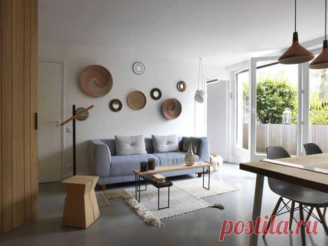 Природные материалы в интерьере квартиры в Париже