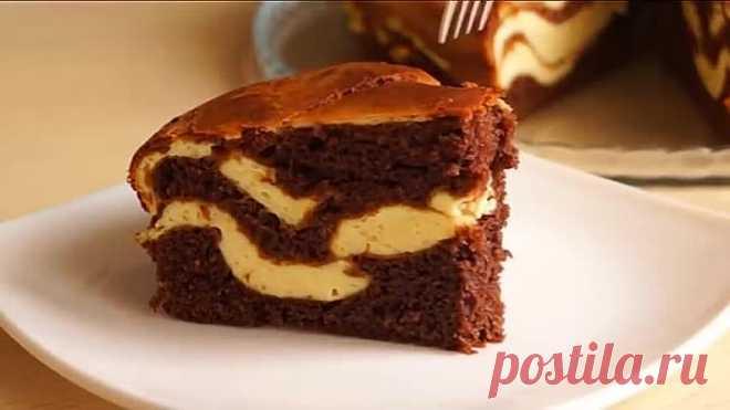 Простой вкусный мраморный пирог