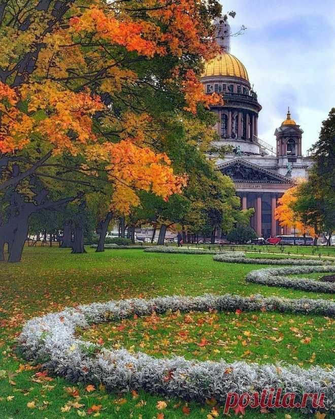 Петербург в осеннем наряде.