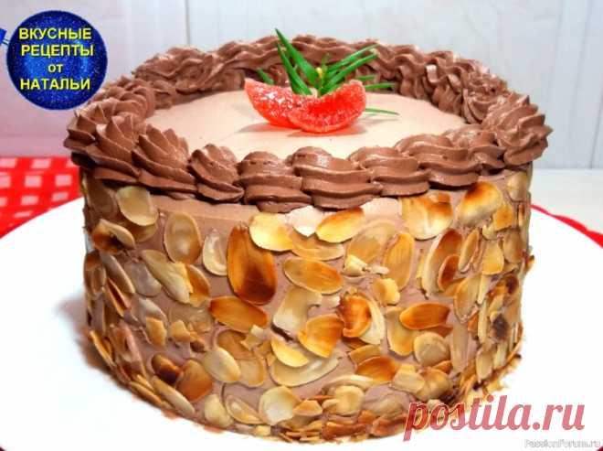 Такого вкусного торта вы еще не ели.Шоколадный торт с вишнями и кремом.