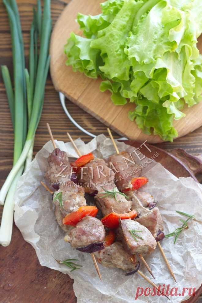 Сочный шашлык из свинины с овощами в духовке — Кулинарные рецепты любящей жены