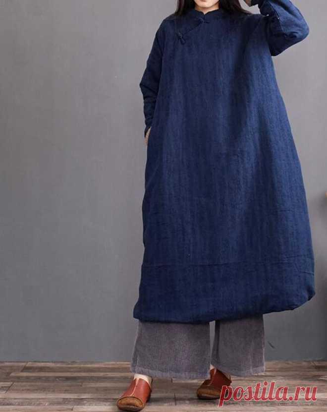 Linen dresses for women plus size clothingLong sleeve   Etsy