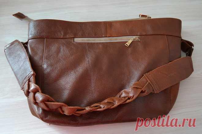 1bef18ff6abc Сумка своими руками | Мастер-класс - пошив сумки из натуральной кожи ...