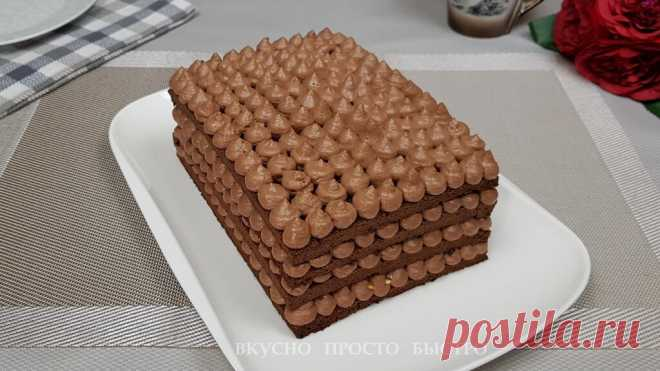 Шоколадный торт без муки и сахара. Бесподобный торт за час   Вкусно Просто Быстро   Яндекс Дзен